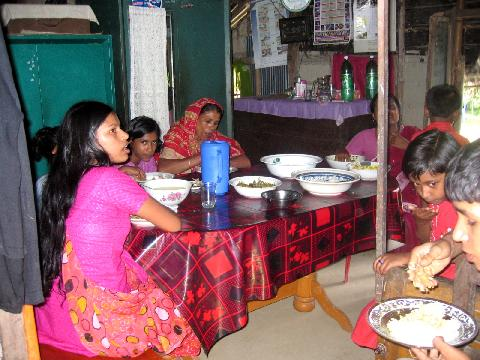 Typische Wohnung in den Dörfern
