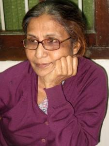 Nelly (Prof. Badrun Nahar), unsere Partnerin für Sayedpur